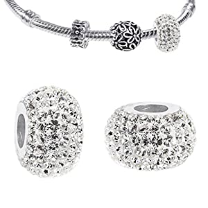 Sterling Silver Bracelets - Cz Crystal Charm Bracelets & Necklaces For Women