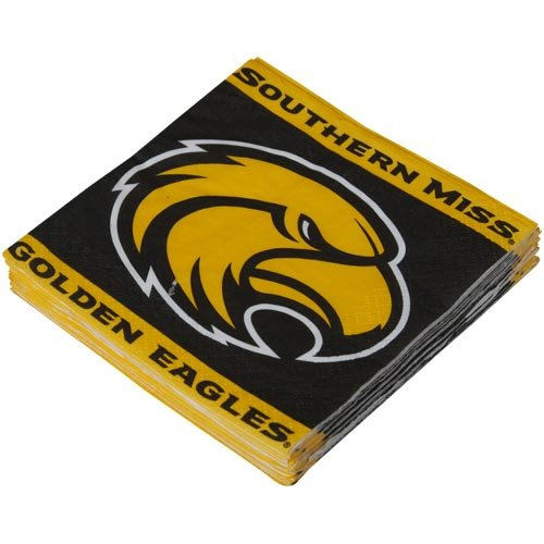 NCAA Southern Miss Golden Eagles 16-Pack Beverage Napkins - 1