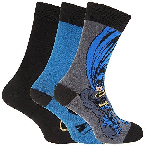 Calzini da uomo ufficiale Batman (Confezione da 3) Blue/ Black/ Grey 39-45
