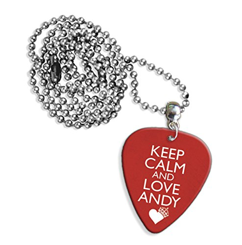 Keep Calm And Love Andy Biersack Black Veil Brides Logo Chitarra Pick Collana (GD)