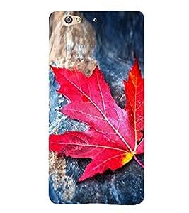 Orange Red Palm Leaf 3D Hard Polycarbonate Designer Back Case Cover for Gionee S6