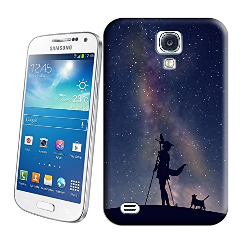 Hot Sale Phone Cover Protector For All People With Girl And Cat Looking At The Starry Sky With Telescope Snap On Hard Plastic Phone Case Skin Shell For Samsung S4 Case