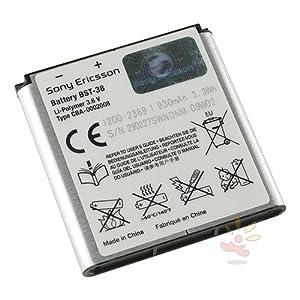 Battery Sony Ericsson BST 38 For the Jalou / C510 / C902i / C905 / K770i / K850i / R300 / R306 / S312 / S500i / T303 / T650i / W580i / W760i / W902 / W980i / W995 / Xperia X10 mini pro / Yendo / Z770i / Z780i