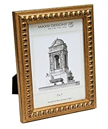 Maxxi Designs C28002-80 Arezzo Antique Gold frame with Beads, 8\
