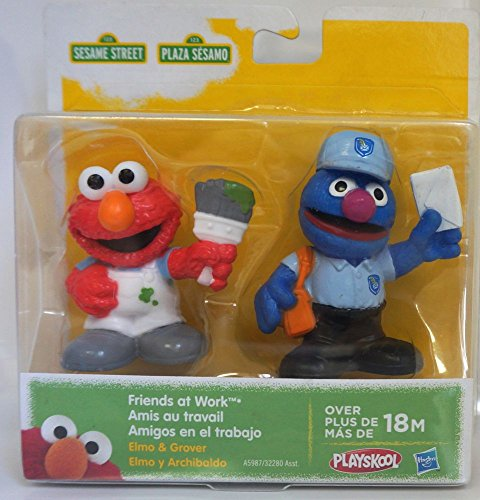 Sesame Street, Friends at Work Figures, Elmo and Grover, 2-Pack