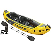 Intex Explorer K2 2-Person Inflatable Kayak Set with Aluminum Oars & Pump