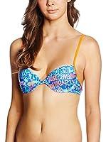 JUST CAVALLI Sujetador de Bikini Azul / Naranja L (IV)