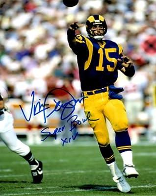Autographed Vince Ferragamo 8x10 Los Angeles Rams Photo