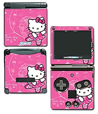Hello Kitty Ballet Dance Dress Pink Tutu Skirt Video Game Vinyl Decal Skin Sticker Cover for Nintendo GBA SP Gameboy Advance System by Vinyl Skin Designs