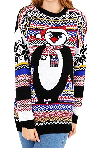 UNISEX-Ladies-Mens-Christmas-Xmas-Knitted-Novelty-Cute-Retro-Jumper-Plus-Size-S-XXXL