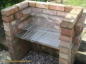 Stainless Steel DIY Brick BBQ Kit Heavy Duty Charcoal