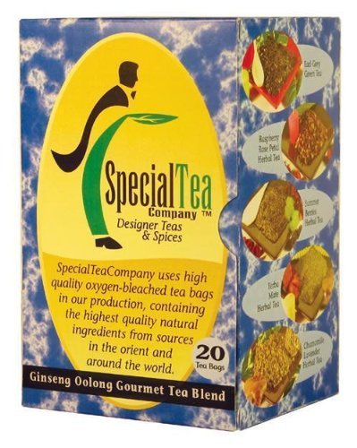 Ginseng Oolong - Award Winning Tea X 40 Tea Bags + Free Samples