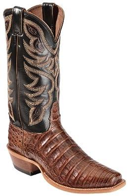 Nocona Men's Caiman Cowboy Boot Narrow Square Toe Cognac US