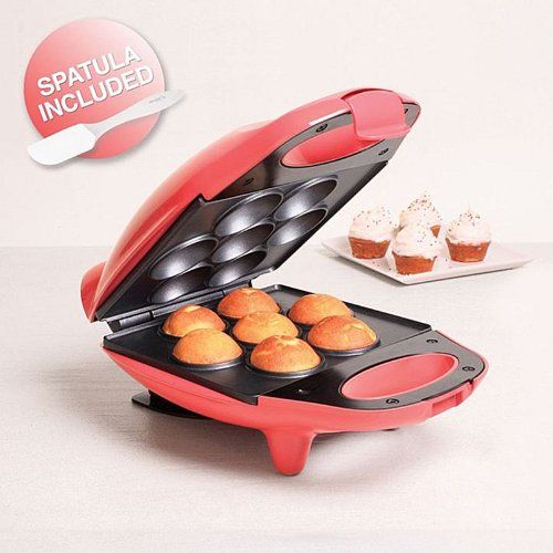 Holstein Easy as 1, 2, 3 Fun Mini-Cupcake Maker - Coral