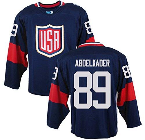 USA #89 Justin Abdelkader Jersey Men's 2016 World Cup of Hockey Jersey