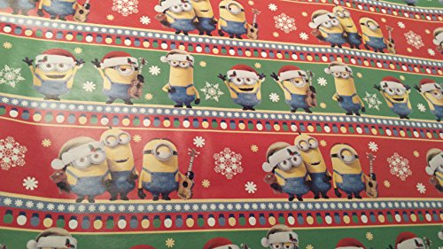 [Christmas Wrapping Despicable Me Minions Holiday Paper Gift Greetings 1 Roll Design Festive Wrap Red] (Despicable Me Costume Walmart)
