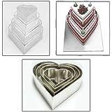 "4 Tier Heart Multilayer Wedding Birthday Anniversary Baking Cake Tins Cake Pans 6"" 8"" 10"" 12"" - EUROTINS"
