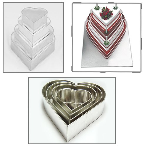 4 Tier Petal Multilayer Wedding Birthday Anniversary Baking Cake Tins Cake Pans 6 8 10 12 3 Deep Falcon