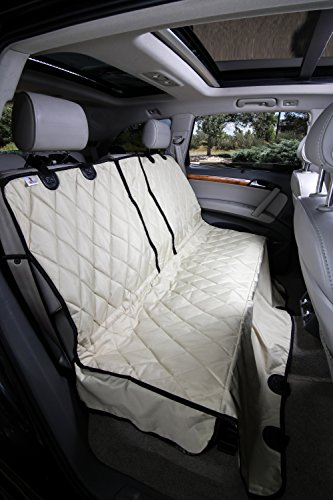 4Knines Regular Split Rear Seat Non-Slip Cover with Hammock, Tan (Split Rear Seat Covers compare prices)