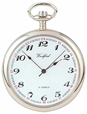 Woodford Pocket Watch 1023 Chrome Plated Open Face