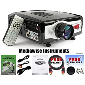 LCD Video Projector (Includes HDMI Cable & Extra Bulb) Great for DVD, Wii, XBox, Playstation