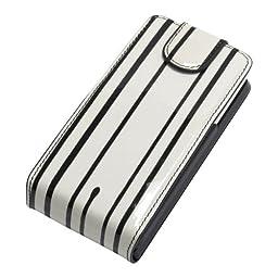 SaFPWR Battery Case XR for iPhone 3G/3GS - Black/White Retro Stripe