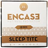 Sleep Tite by Malouf ENCASE Mattress Protector - Six-Sided Zipper Encasement - Helps Eliminate Bed Bugs - 100% Waterproof-Eliminates Dust Mites -15 Year Warranty
