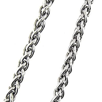 14 Kt White Gold 24 Antique Style Chain