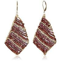 [アマンダ・ステレット] AMANDA STERETT 天然石ストライプスクエアピアス F2213 Earrings