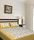 Kismat Collection Saganeri & Jaipuri Printed Cotton Double Bedsheets