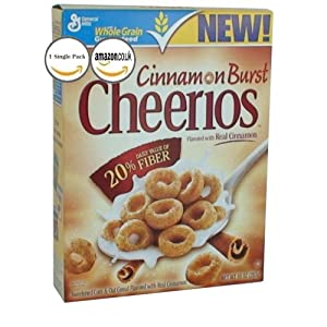General Mills, Cheerios, Cinnamon Burst Cereal, 10oz Box (Pack of 4)