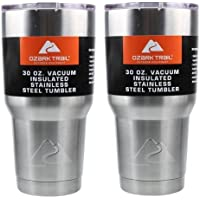 2-Pack Ozark Trail 30-Ounce Double-Wall Vacuum-Sealed Tumbler (Stainless Steel)