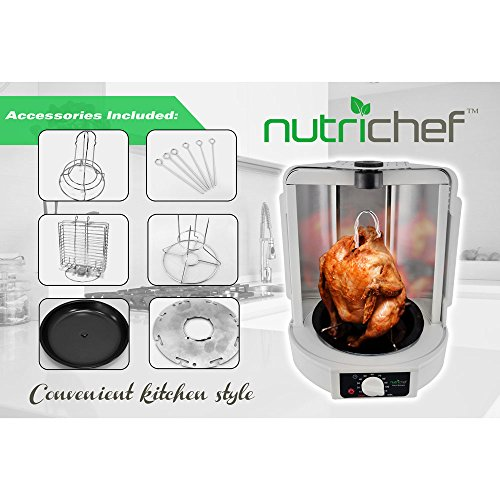 Countertop Oven For Turkeys : NutriChef Kitchen Vertical Countertop Rotisserie Rotating Oven Turkey ...