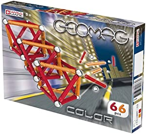 Geomag - 6802 - Jeu de Construction - Kids Color - 66 Pièces