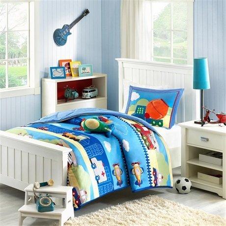 Mizone Kids Totally Transit Comforter Set - Multi - Full/Queen