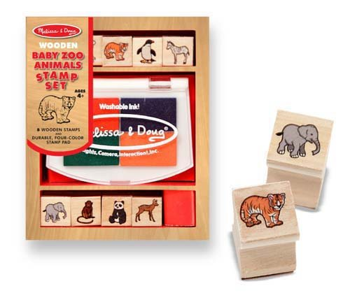 Melissa and Doug Baby Zoo Animals Stamp Set - 1