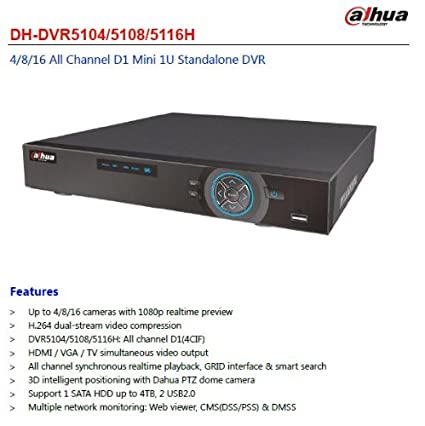 Dahua DH-DVR5108-H 8-Channel Dvr