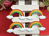 56*30mm. 30pcs/lot Flat Back Rainbow Bridge . Resin Christmas Tree for Diy Holiday Decoration Crafts Accessories