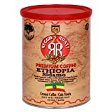 Reggie's Roast Ethiopia Sidamo Ground Coffee, 12-Ounce Cans (Pack of 4)