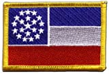 USA Mississippi unofficial Flag embroidered Iron-On Patch