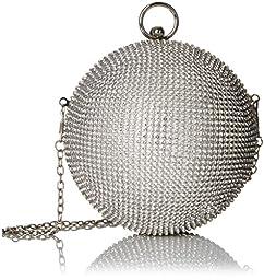 Aldo Morgano Ball Ornament Novelty Crossbody, Silver, One Size
