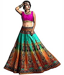 Fashion Galleria Women's Festive Digital Printed Lehenga Choli