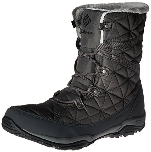 Columbia Loveland Mid Omni-Heat Waterproof, Stivali da Neve Donna, Grigio (Quarry, Black 052Quarry, Black 052), 36 EU