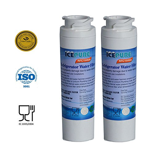 2 - Pack IcePure Water Filter to Replace GE, Hotpoint, Kenmore, Maytag, Jenn-Air, GE MSWF, MSWF3PK, MSWFDS, 101820A, 101821-B, 101821B, 238C2334P003, AP3997949, PC46783, PS1559689, WR02X12345, WR02X12801, RWF1062, WF-282, WF282, WSG-3. (Ge Wf Refrigerator Water Filter compare prices)