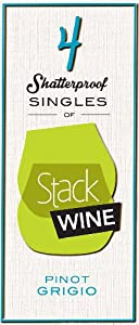 NV Stack Wine Pinot Grigio, 4 x 187 mL