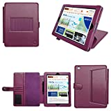 CaseGuru Business Pro Case for Apple iPad 4 4th Generation 3 3rd Generation and iPad 2 2nd Generation with Sleep Sensor and Integrated Flip Stand Function with Stylus Pen and LCD Screen Protector - Purple