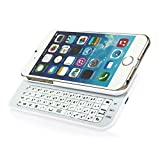 Premium Ultra-thin Slide-out Wireless Bluetooth Keyboard Durable Cover with Backlight for iPhone 6 4.7 Inch