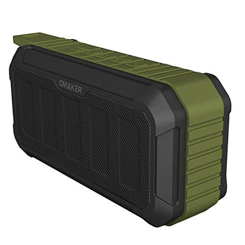 OmakerM5 完全防水Bluetoothスピーカー 10W 臨場感溢れる本格サウンド再生可能なワイヤレススピーカー(IPX7完全防水/デュアルドライバ/アウトドアと室内モード切り替える) オーリブグリーン