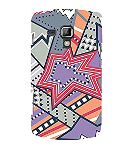 Star Design Pattern 3D Hard Polycarbonate Designer Back Case Cover for Samsung Galaxy S Duos 2 S7582