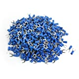 1000 Pcs SV2-6S AWG 16-14 Blue Pre Insulated Fork Terminals Connector